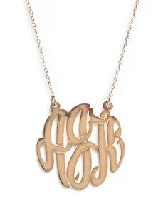 Monogram Pendant Necklace via BaubleBar
