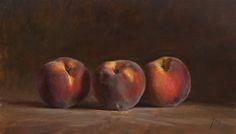 Julian Merrow-Smith.  I love this artist. Peaches, 27cm x 46cm  (Lightbox 1100px x 900px - 105kb)