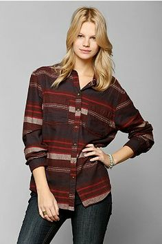 Lovers + Friends Studded Flannel Boyfriend Shirt - Urban Outfitters