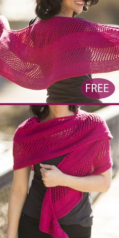 Free Knitting Pattern for Easy Noble Crescent Shawl - Crescent-shaped lace shawl.Free Knitting Pattern for Easy Noble Crescent Shawl - Crescent-shaped lace shawl alternating garter stitch, 2 row mes# cowl Free Knit Shawl Patterns, Prayer Shawl Patterns, Knit Wrap Pattern, Knitted Shawls, Crochet Shawl, Knit Crochet, Knit Scarves, Lace Knitting, Shawl