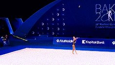 Melitina Staniouta's ball routine at the 2014 European Championships
