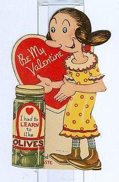 Vintage-Popeye-Valentine-Card. Olive Oyl.