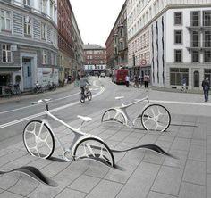 Concept de borne de vélo urbain