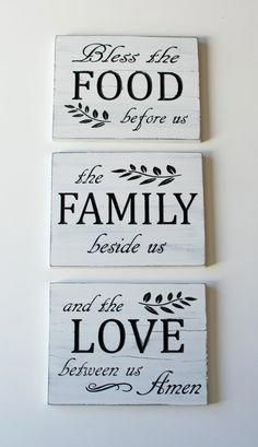 Bless the Food before us Carved Wooden Sign Wood Sign With Saying Wall Collage Rustic Wood Sign Decorative Sign Engraved Sign Dining Room Decor Bless carved collage decorative Engraved Food rustic Sign Wall Wood wooden Diy Wood Signs, Rustic Wood Signs, Pallet Signs, Vintage Wood Signs, Wooden Signs With Sayings, Painted Wood Signs, Dining Room Wall Decor, Room Decor, Dining Rooms