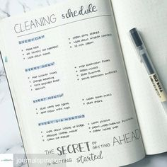 Cleaning Schedule - Minimalist Bullet Journals (@minimalistbujo) • Instagram photos and videos