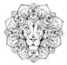 lion lace tattoo | Dotwork lion mandala tattoo design free by Agresivoo - Tattooimages ...