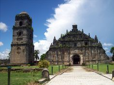 Paoay Church in Paoay Ilocos Norte.  Designated as a UNESCO World Heritage Site.