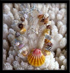"""Beach Candy"" Hawaiian Sunrise Shell Seashells & Gemstones Bracelet I Love Jewelry, Jewelry Ideas, Jewelry Art, Jewellery, Beach Candy, Quarts Crystal, Candy Bracelet, Seashell Jewelry, Complimentary Colors"