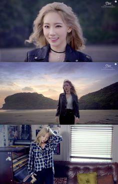 "Taeyeon's 1st Single Album ""I"" MV - Rock Chic Vibe Outfits"