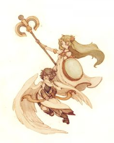 Kid Icarus Palutena And Pit