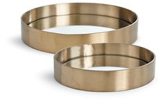 Asst. of 2 Round Trays, Brass | One Kings Lane