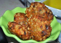 Javvarisi Vadai (Sago Vada) Serve hot, as a snack, with chutney or ketchup.