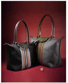 Online Cheap Light Longchamp Embroidered Bags Deep Blue