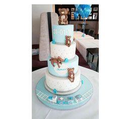 Blue Teddy Bear Birthday cake Teddy Bear Birthday Cake, Blue Teddy Bear, Cakes, Children, Desserts, Style, Kids, Tailgate Desserts, Stylus