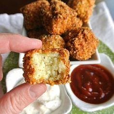 Ok. Get ready for your life to change.   These Cauliflower tots are coated with almonds, made with cauliflower and taste   just like a tater tot. Spread the word!