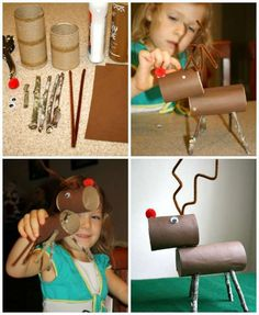 17 Activités manuelles de Noël pour enfants avec des rouleaux de papier toilette