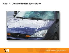 """Our """"hmmm"""" moment of the day… When you own a car and (unfortunately) dent the bumper, would your insurance company repair the damage, or would they consider the car to be """"totaled"""" and replace it? Your home is the same. If a few shingles on your roof are damaged by hail and can be repaired, would you expect your insurance to replace your entire roof?"""
