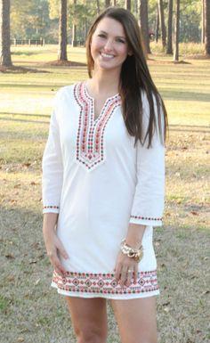 Better in White $62 FREE SHIPPING! #white#spring#springdress#ootd#embroidery#whitedress#dress@dresses
