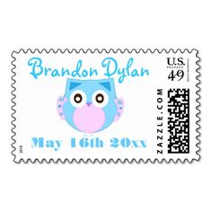 Baby Boy Owl Stamps