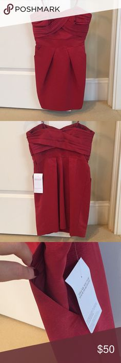 New BCBGeneration red strapless mini dress Never worn and has the tags. This color is amazing and has pockets! BCBGeneration Dresses Mini