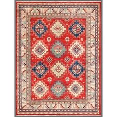 Shop for Herat Oriental Afghan Hand-knotted Kazak Wool Rug (7'11 x 10'1). Get free shipping at Overstock.com - Your Online Area Rugs Outlet Store! Get 5% in rewards with Club O! - 15065640