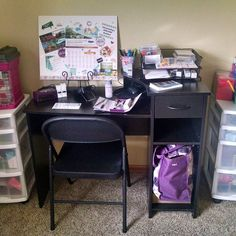 Earlier this week I set up my very our home office for my #jamberry business! It feels good to have everything in one place and (somewhat) organized.  It's a perfect space for doing my nails too (I was previously doing them on my living room floor haha).  #workfromhome #bossbabes