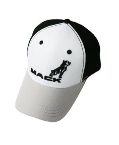 Mack Truck Merchandise - Mack Truck Hats - Mack Trucks Black & White Bulldog Logo Cap - Mack Trucks Black & White Bulldog Logo Caps