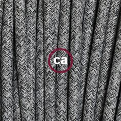 Round Flex Lighting Flax Electric Cable TO402 - Grey