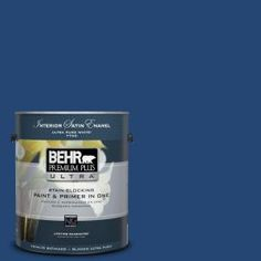 BEHR Premium Plus Ultra 1-gal. #S-H-580 Navy Blue Satin Enamel Interior Paint 775301 at The Home Depot - Mobile