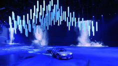 Whitevoid was commissioned to create a kinetic light show to accompany the inaugural presentations of the spectacular BUGATTI VEYRON the worlds fastest and most expensive street car and the new SEAT EXEO for the Volkswagen Group Show at the International Motor Show IAA 2011 in Frankfurt. 80 KINETIC LIGHTS rods and DMX winches were specifically produced for this event and arranged in a 22 x 8 meter grid with a hight movement of 7 meters to perform a ballet of ...