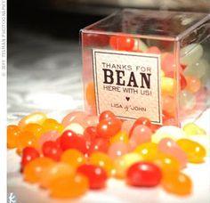 Wedding Favor: Jelly beans!