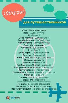ТОП-100 полезных английских фраз для путешественников: привет, пока, здравствуйте, до свидания