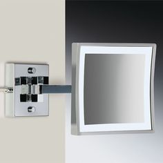 "Windisch by Nameeks 8"" Wall Mount 3X Magnifying LED Mirror with Two Arm Direct Wired 