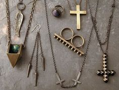 golden jewels and accessories