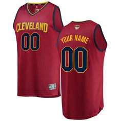 99.99 Men s Cleveland Cavaliers Fanatics Branded Maroon 2018 NBA Finals  Bound Fast Break Custom Replica Jersey fe10cdebb