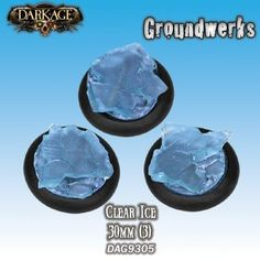 Clear ice miniature bases