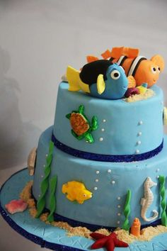 Nemo cake. This was Myles first Birthday Theme
