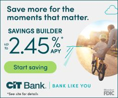Accelerate your savings with CIT Bank Savings Builder, a tiered interest rate savings account. High Interest Savings Account, Online Savings Account, High Yield Savings Account, Money Market Account, Savings Bank, Savings Accounts, Best Bank Accounts