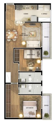 Flip the second bedroom and kitchen positions for more privacy. Small Space Interior Design, Small House Design, Small House Plans, House Floor Plans, Sims House Design, Apartment Floor Plans, Home Design Plans, House Layouts, Small Apartments