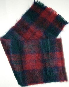 Knitted Scarves – Mohair Wool Scottish Tartan Check Winter Scarf – a unique product by MarciBaum on DaWanda