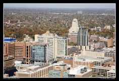 Aerial view of the CWE  love this city