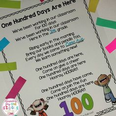 Are you getting ready for the 100th Day Of School? I have some great ideas and this FREEBIE for you on my blog! Link in profile. http://one-giggle.blogspot.com/2016/01/my-100th-day-of-school-favorites.html?m=1 #100thdayofschool #teacherspayteachers  #Regram via @onegiggle&hl=en