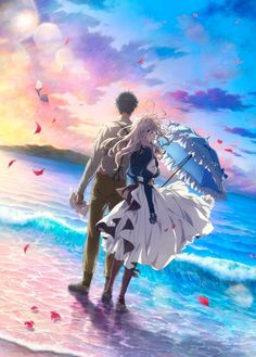 Crunchyroll - The Beauty of Violet Evergarden Is Visualized in New Poster for the Upcoming Anime Film Anime Violet Evergarden, Fanarts Anime, Manga Anime, Violet Evergarden Wallpaper, Hd Wallpaper, Violet Evergreen, Upcoming Anime, Tamako Love Story, Kyoto Animation