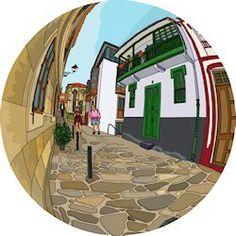A San Francisco. Disponible en chiriwappa.com a partir de 119€. San Francisco, Mirror, Furniture, Home Decor, Budget, Illustrations, Art, Decoration Home, Room Decor
