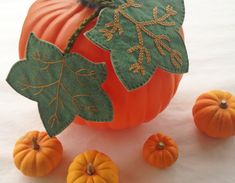KBB Crafts & Stitches: Embroidered Felt Pumpkin Leaves