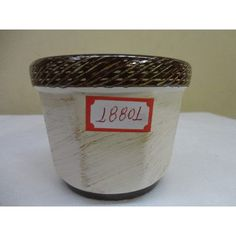 #18801- Vaso Cachepot Cerâmica Decorado Pequeno!!! - R$ 8,00