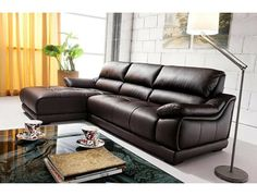 AU373 Modern Leather Sectional Sofa - Modern Sectional Sofa, Modern Leather Sectional Sofa - Living