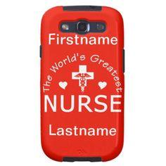 Greatest Nurse Samsung case - customize! Buy this gift at http://www.zazzle.com/greatest_nurse_samsung_case_customize-179250258709125303?rf=238505586582342524 #nurse #gift #careiver