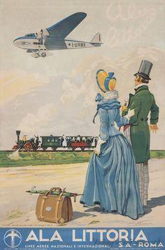 ALA (Italy) ALA Littoria - Vintage travel posters