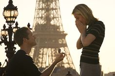 Be proposed to In front of the Eiffel Tower